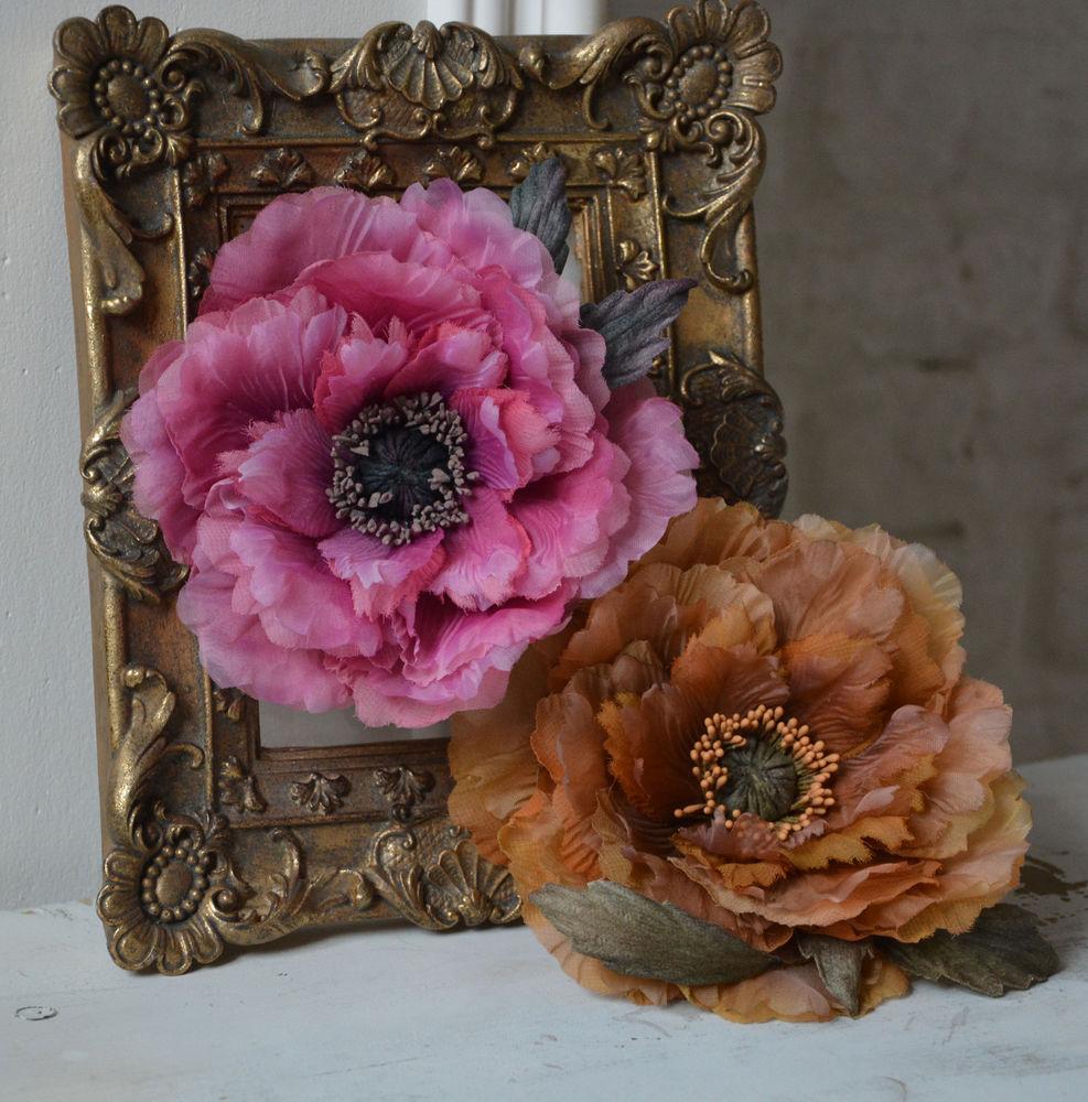 цветы из шёлка, цветы из ткани