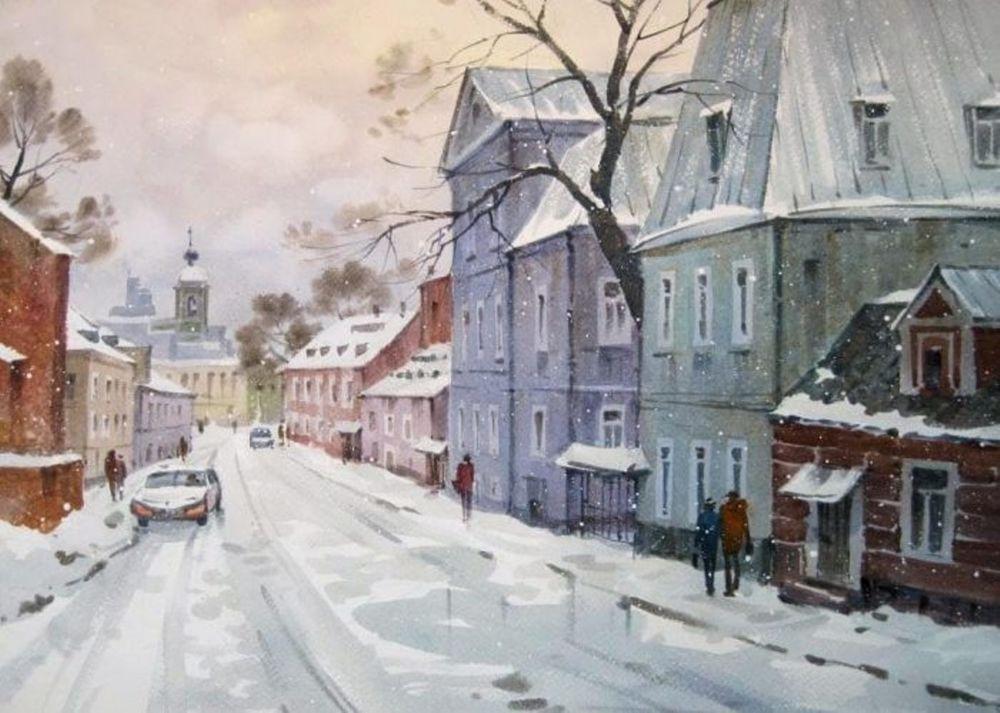 Акварельные пейзажи художника Ильи Горгоца, фото № 17
