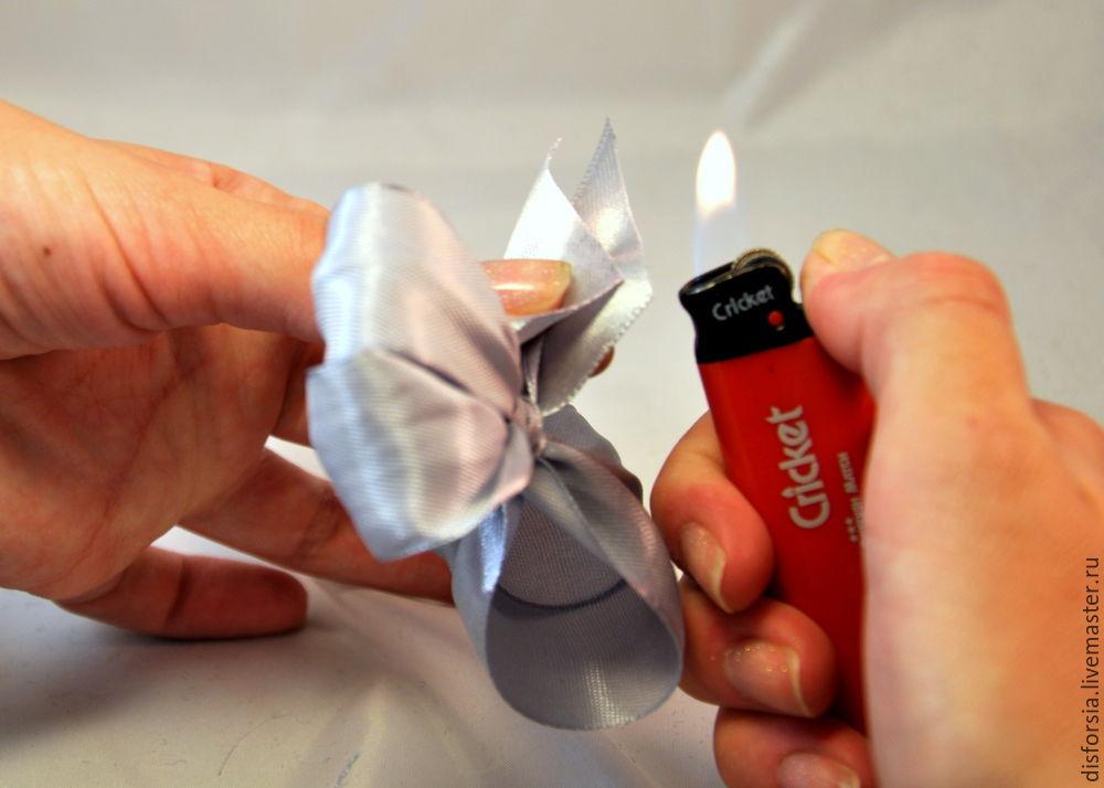 Как сделать бант из ткани своими руками. Фото инструкция