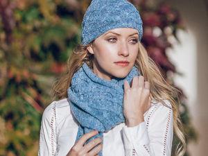 Мои шапочка и шарф из пряжи Софт Донегал 5548. Черная Пятница!. Ярмарка Мастеров - ручная работа, handmade.
