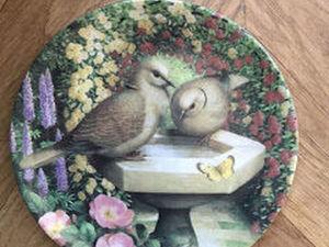 Coalport Bird Plate Winter Reflection, Garden Visitors Series Danbury Mint | Ярмарка Мастеров - ручная работа, handmade