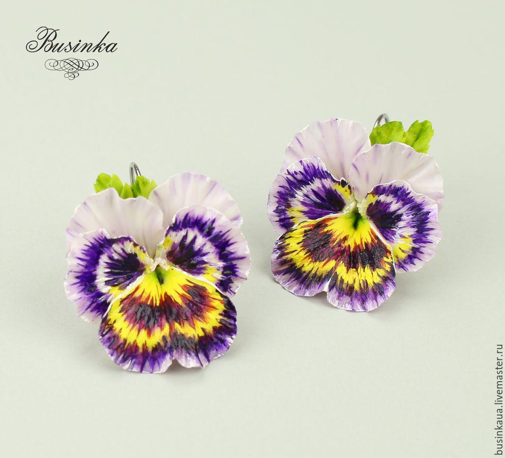 братики цветы, как слепить фиалки, как собирать изделия хф, анютины глазки из фарфора