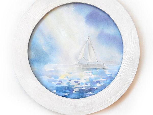 Рисуем морской пейзаж акварельными красками | Ярмарка Мастеров - ручная работа, handmade