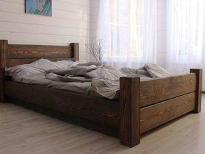 От неё глаз не отвести. Кровать из лиственницы. Ярмарка Мастеров - ручная работа, handmade.