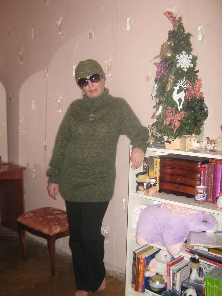 свитер на зака, кид мохер и шелк, стильный свитер, теплый свитер, вязание на заказ, низкая цена