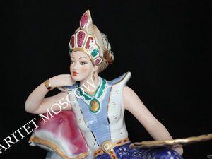 Фараонша клеопатра большая золото фарфор РЕДКАЯ!. Ярмарка Мастеров - ручная работа, handmade.