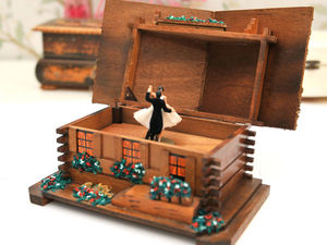Автоматон-Шкатулка с Танцующей Парой. Ярмарка Мастеров - ручная работа, handmade.