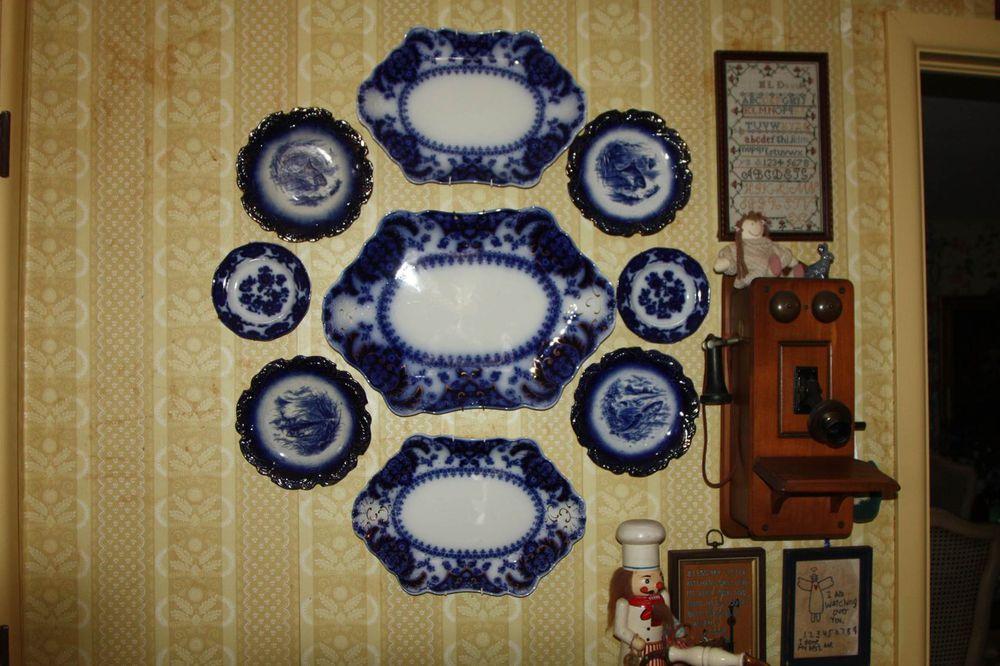 Flow blue — антикварная красота из Англии, фото № 21