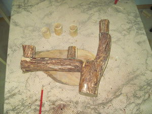 Делаем эксклюзивное бра. Часть 4: затягивание проводов и первое склеивание. Ярмарка Мастеров - ручная работа, handmade.
