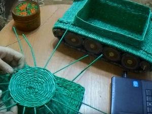 Видеоурок по плетению танка из бумажной лозы. Часть 2. Ярмарка Мастеров - ручная работа, handmade.