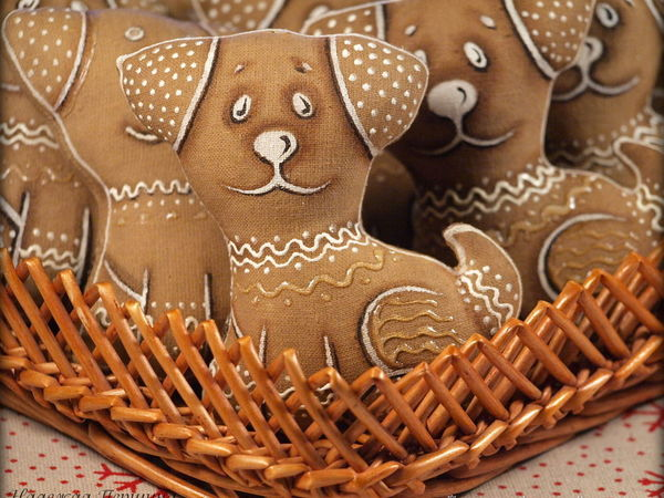 Sewing A Cute Gingerbread Dog: For Those Who Love Handmade Symbolic Gifts | Livemaster - handmade