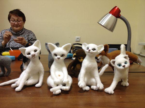 Шерстяная скульптура. Создаем кошку. | Ярмарка Мастеров - ручная работа, handmade