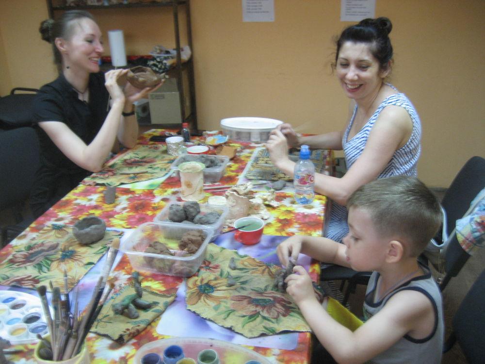 занятия для детей, керамика