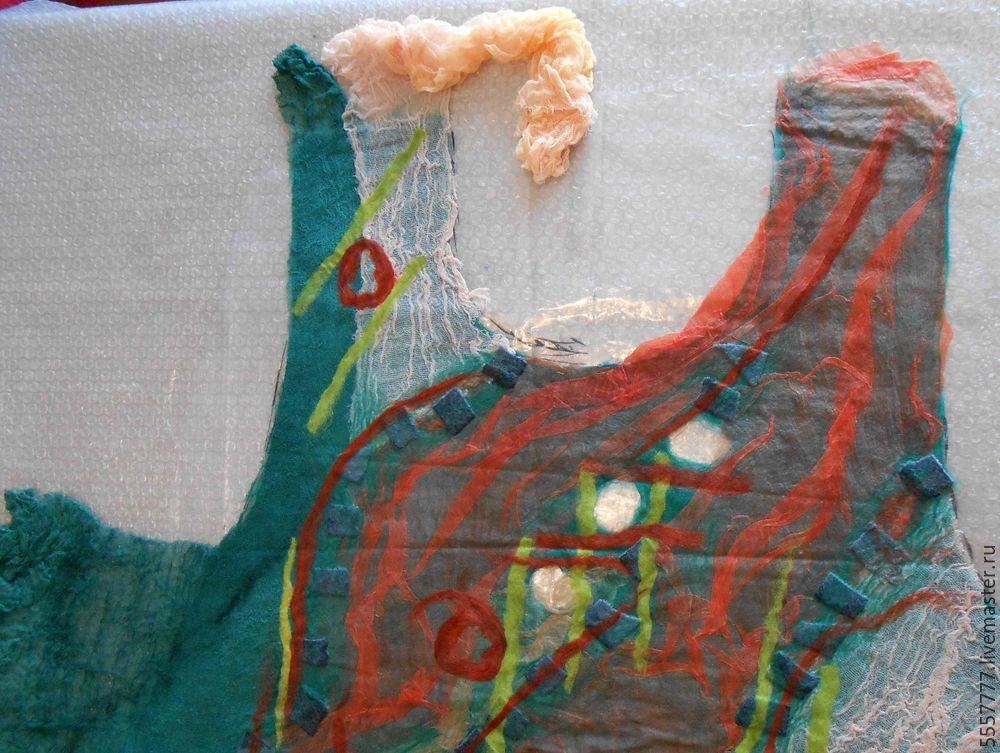 Создаем оригинальную тунику из марли и шерсти, фото № 15