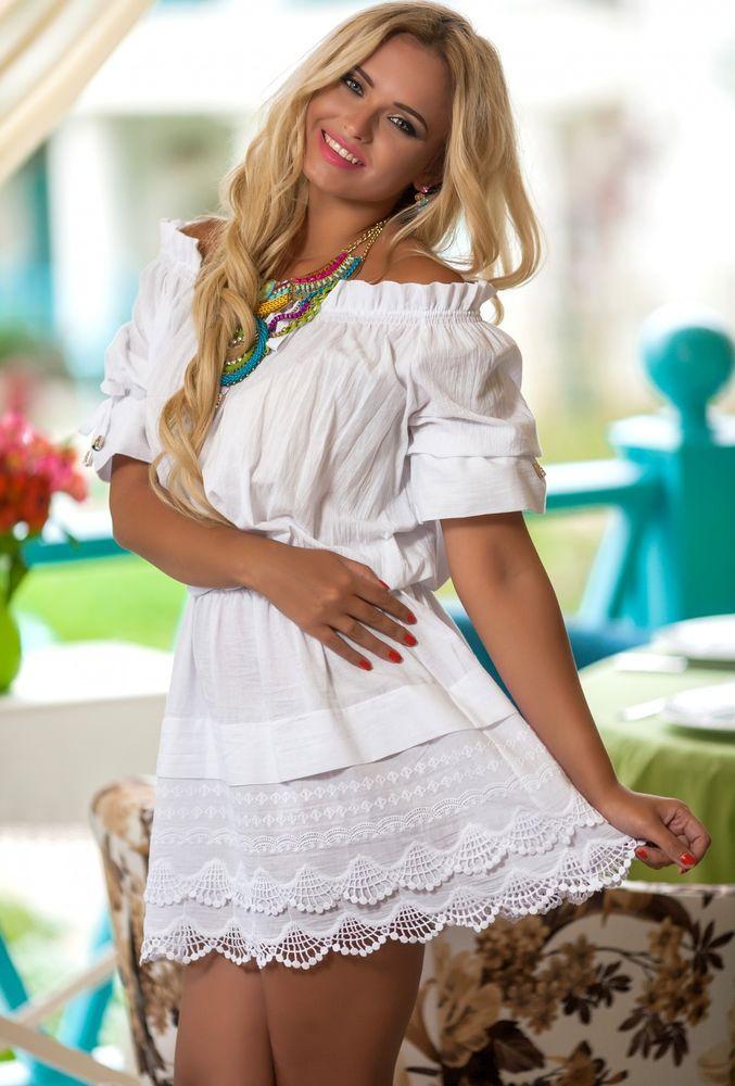 Белое бохо, или Шикарная одежда для королевы летнего пляжа, фото № 61