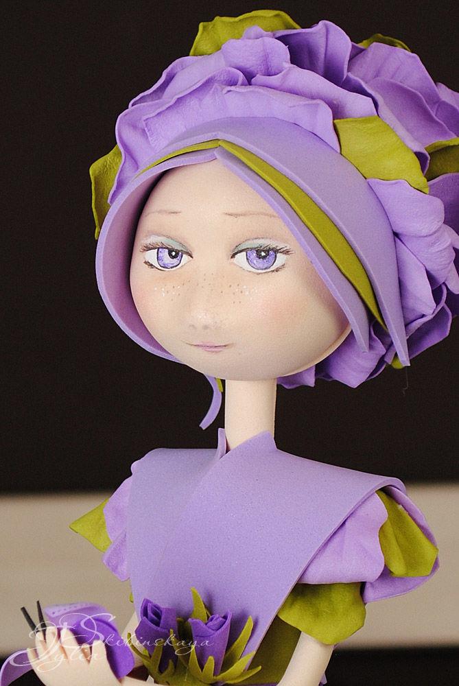 фоамиран мастер класс, кукла в подарок