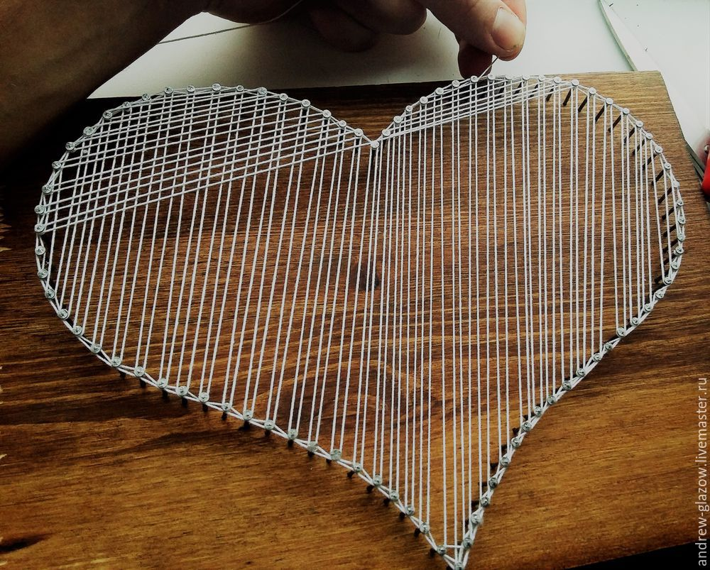How to Make a String Art Heart, фото № 10
