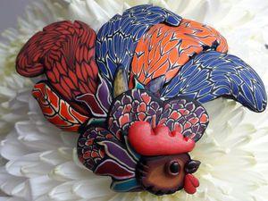 Лепим милую брошь «Петушок». Ярмарка Мастеров - ручная работа, handmade.