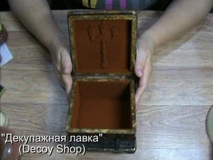 Декорируем шкатулку пудрой с эффектом бархатной поверхности. Ярмарка Мастеров - ручная работа, handmade.