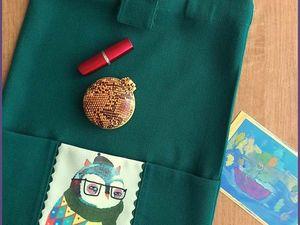 Сумка из ткани с совой - А-у-к-ц-и-о-н!. Ярмарка Мастеров - ручная работа, handmade.