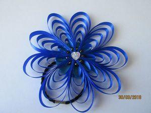 Мастерим украшение для волос: цветок из узкой ленты. Ярмарка Мастеров - ручная работа, handmade.