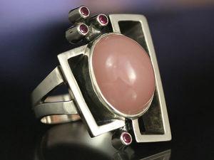 Кольцо с розовым опалом. Кольцо с перуанским опалом. Ярмарка Мастеров - ручная работа, handmade.