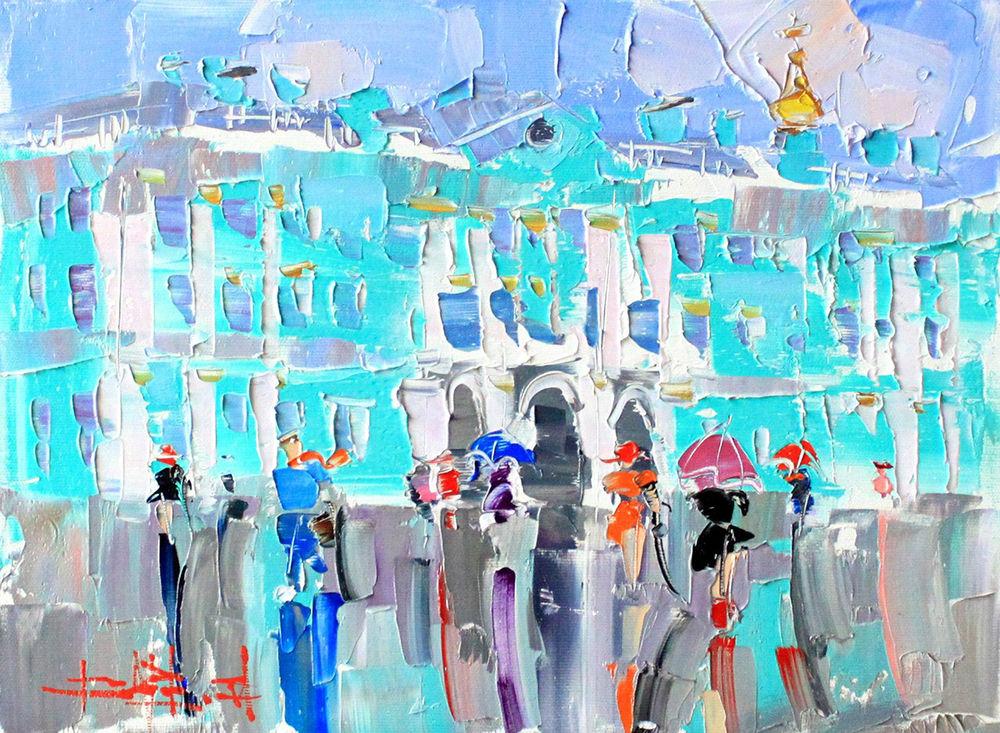 Konstantin Sukhopluev: Artist Painting Rain, фото № 2