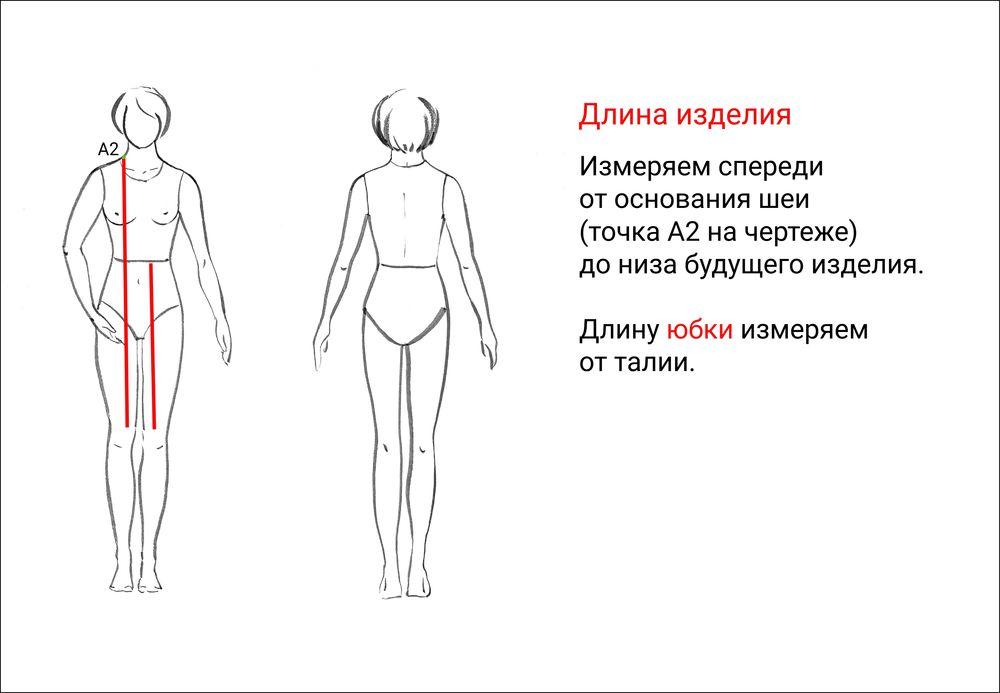 Как измерить обхват шеи для вязания 61