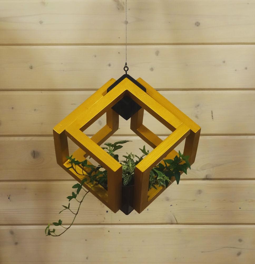 куб, золотой, подвес, белый, современный дизайн