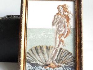 Щедрый аукцион. Венера. Ручная вышивка крестом. Ярмарка Мастеров - ручная работа, handmade.