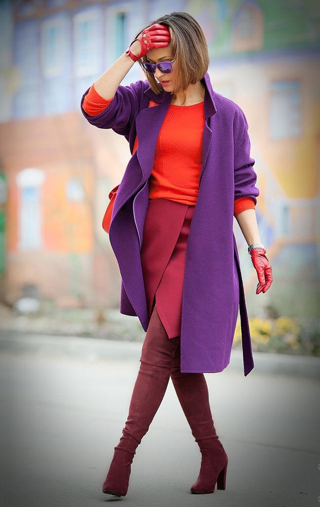 фиолетовый с чем носить