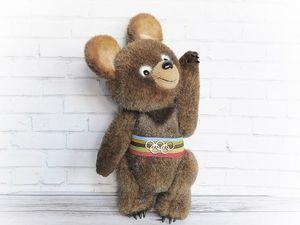 Авторский мишка тедди: олимпийский мишка чемпион. Оригинальный подарок. Ярмарка Мастеров - ручная работа, handmade.