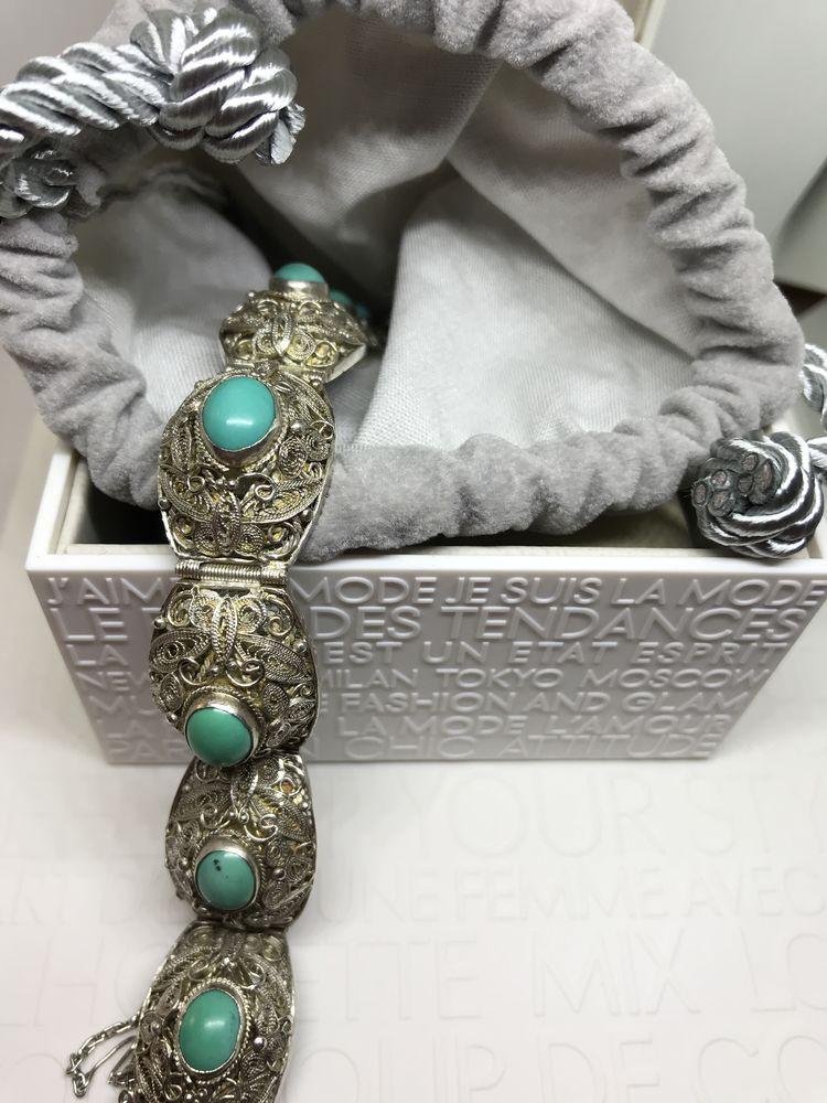 антикварный браслет, подарок на день рождения, гранат