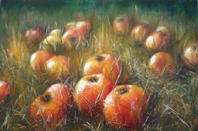 картины с яблоками