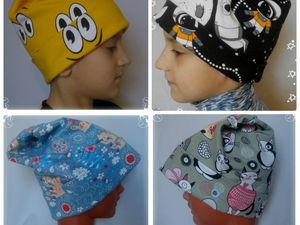 Видеообзор - Трикотажные детские шапки   Ярмарка Мастеров - ручная работа, handmade