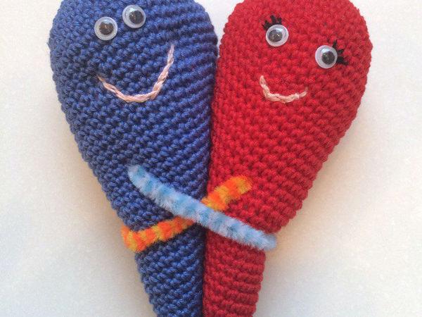 сердечко обнимашка | Ярмарка Мастеров - ручная работа, handmade