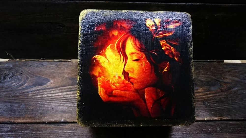 Шкатулка  «Магия света»  — декупаж с эффектом свечения!, фото № 7