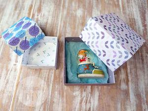 Складываем коробочку из бумаги для подарков за пару минут. Ярмарка Мастеров - ручная работа, handmade.