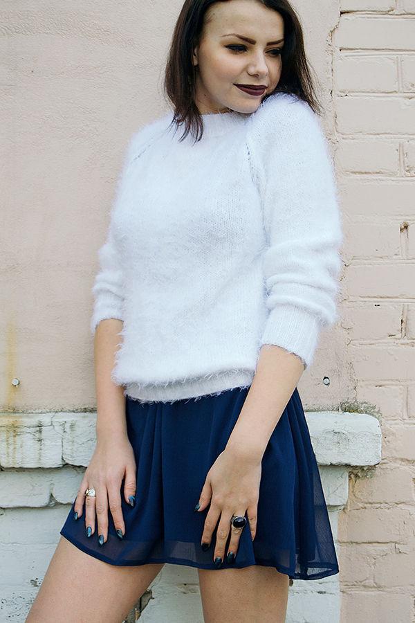 пушистый свитер, свитшот