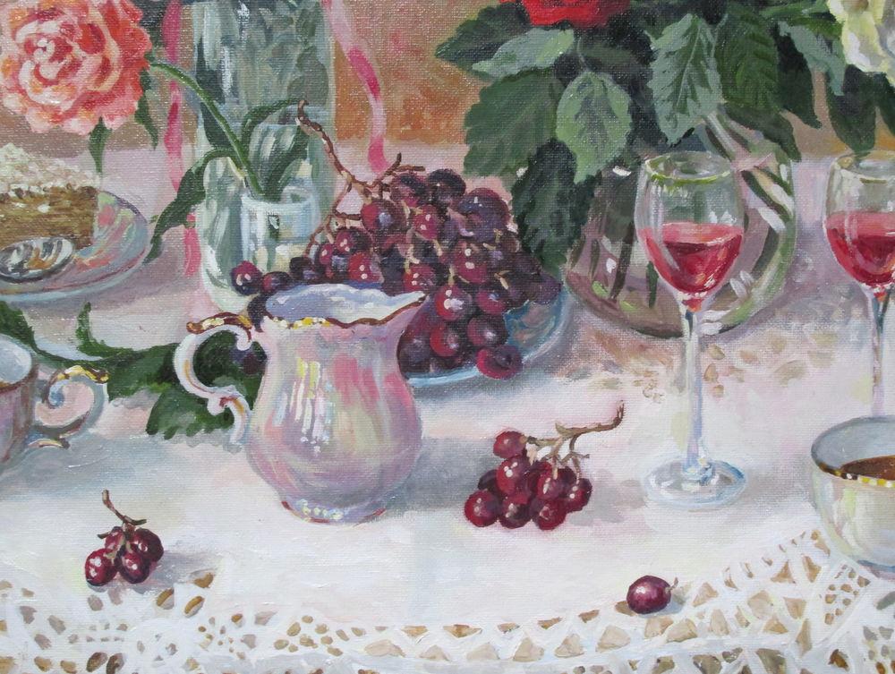 авторская картина, чай, праздник, купить в москве