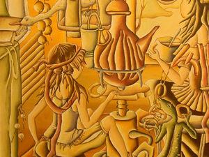 Чаепитие с видом на окно. Ярмарка Мастеров - ручная работа, handmade.