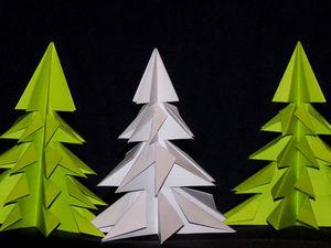 Оригами для начинающих. Делаем елку из бумаги: видео мастер-класс. Ярмарка Мастеров - ручная работа, handmade.