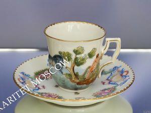 Чайная пара роспись золото ню Каподимонте 22 | Ярмарка Мастеров - ручная работа, handmade