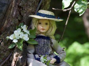 Авторская кукла Мэй с лепным лицом, ручками и ножками. Ярмарка Мастеров - ручная работа, handmade.