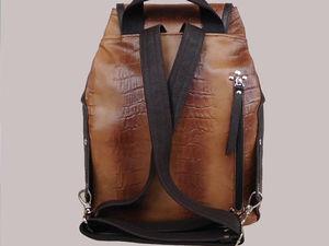 Делаем карман на молнии в детали из кожи. Ярмарка Мастеров - ручная работа, handmade.