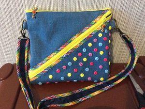 Небольшая яркая сумочка своими руками | Ярмарка Мастеров - ручная работа, handmade