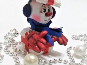 Изготавливаем Снеговика из фоамирана. Ярмарка Мастеров - ручная работа, handmade.