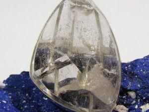 Крупный кулон и кольцо с горным хрусталем - кварцем.. Ярмарка Мастеров - ручная работа, handmade.