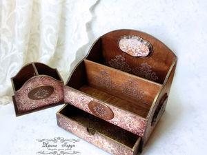 Настольный набор «Elegy» — бюро и карандашница — фото. Ярмарка Мастеров - ручная работа, handmade.