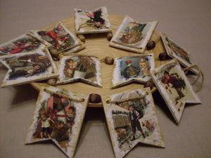 Аукцион с 0  Гирлянда  по мотивам  старой новогодней Европы. Ярмарка Мастеров - ручная работа, handmade.